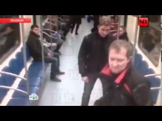 Даг в метро Москвы подошел наехать и получил по своему пониманию
