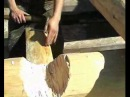 Школа плотника реставратора Разметка и рубка чаши