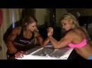 Female Bodybuilders Arm Wrestling. Julia Fory and Ashley She Hulk