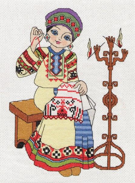 марьюшка-вышивальщица