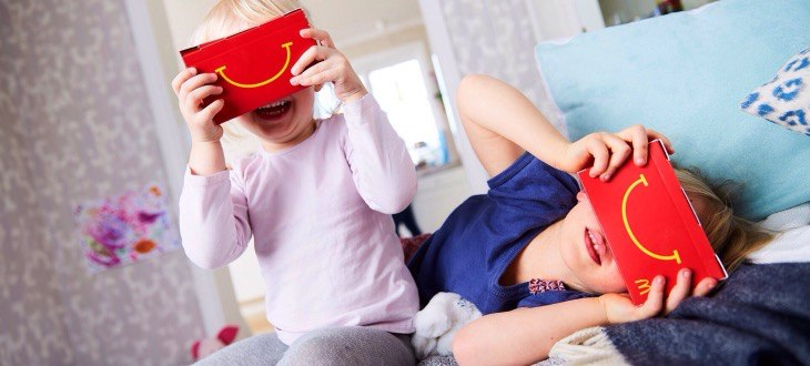 Happy Goggles - шлем виртуальной реальности от Макдоналдс в Happy Meal