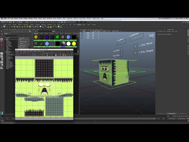 Maya - Animate Color and Animate a Texture Map Swap