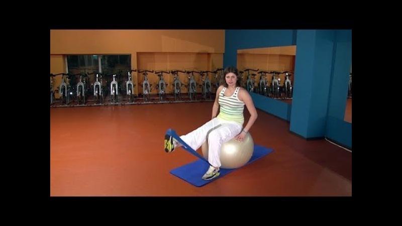 Боль в коленях: упражнение с резиновой лентой. Баланс-гимнастика, рекомендации и...