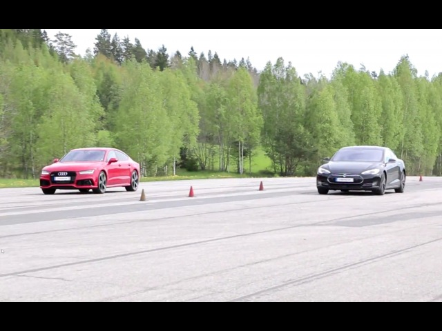 700 HP Tesla Model S P85D vs Audi RS7 x 2 races GTBOARD.com Event May 2015