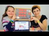 Валентинка на 14 февраля своими руками. Видео для детей. Лучшая подружка Настя.
