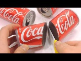 How To Make Real Coca Cola Can Drinking Water Pudding Jelly Learn the Recipe DIY 리얼 콜라 캔 푸딩 만들기