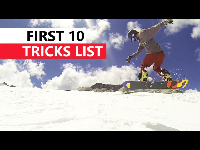 10 Snowboard Tricks to Learn First