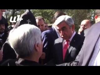 Президент Армении Серж Саргсян посетил Ераблур 21 сентября 2015 года