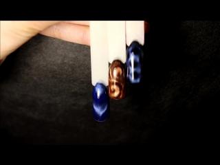 Дизайн гель лаком кошачий глаз - маникюр гель лак - уроки дизайна Донецк