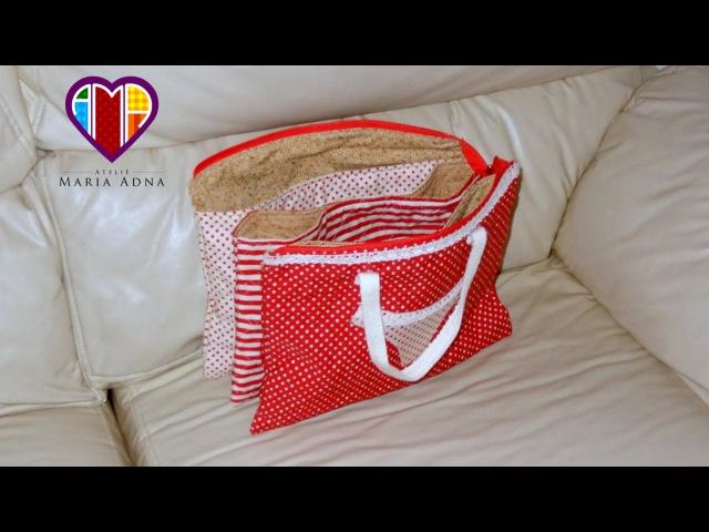 Bolsa necessaire de tecido Laureen. DIY. Fabric necessaire bag. Fabric necessaire bag video. Bags