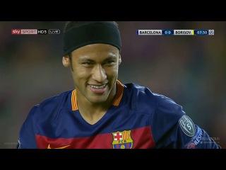 Neymar Jr. vs FC Bate (UCL) (Home) 2015-16 HD 720p