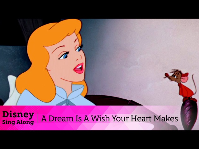 Cinderella Lyric Video | A Dream Is A Wish Your Heart Makes | Sing Along