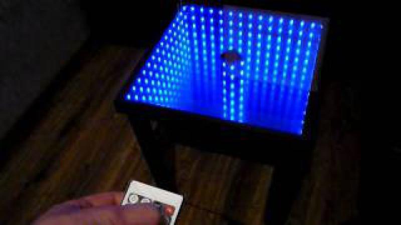 Stolik z efektem nieskończoności Incredible table Infinity mirror