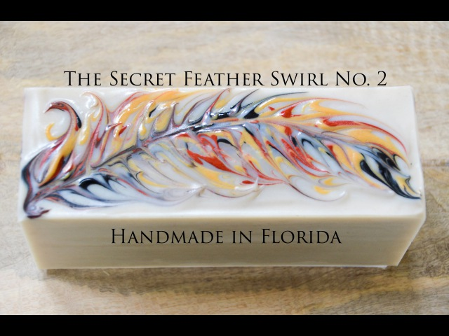 Secret Feather Swirl Cold Process Soap Making