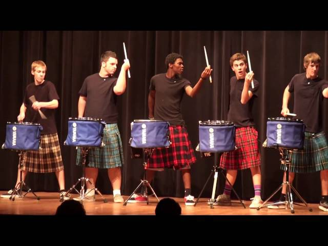 THE OFFICIAL Hot Scots drum line - 2011 - Nigel - Talent Show at LHHS