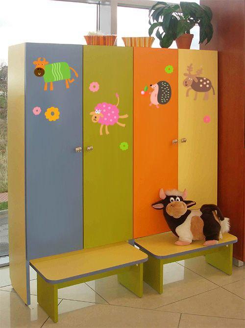 наклейка на шкафчики в детском саду животные фото