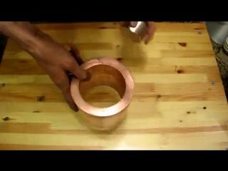Что будет если бросить магнит в медную трубу