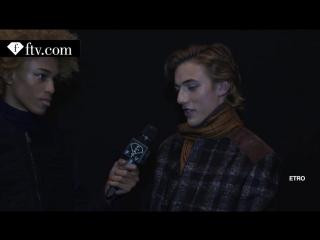 Etro F-W 16-17 Backstage - Milan Fashion Week - Men F-W 16-17