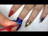 Фольга для ногтей,как пользоваться фольгой для ногтей.