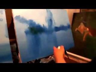 Терраса с видом на море  Мастер класс  Художник Игорь Сахаров