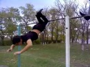Street workout in Prudy. МНОГО элементов на турнике.