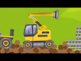 Смотреть мультик про кран и грузовик камаз для детей. Строительная техника мультфильм