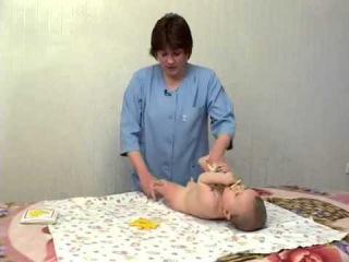 Детский массаж и развивающая гимнастика от 6 мес до 1 года