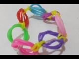 Самый Простой браслет из резинок  Как сплести простой браслет без станка  урок 10