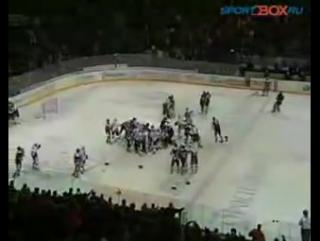 Самая жестокая и лучшая хоккейная драка Ак Барс vs Трактор