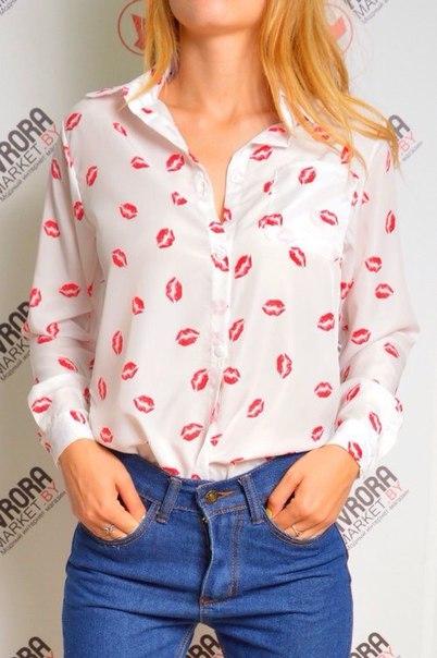 Блузка С Поцелуями В Уфе