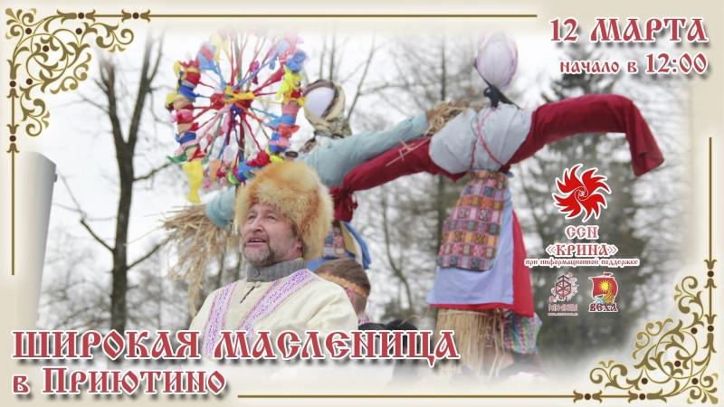 Широкая Масленица в Приютино 2016 - приглашение