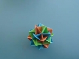 How to make an Origami Twinboat Icosahedron [Low, 360p]