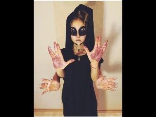 Макияж на Halloween[]Юля Гамалий