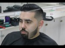 Blended Beard, Bald Fade, Combover with Hard Part