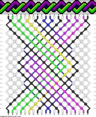 Схемы фенечек косым плетением