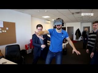Реакция людей на шлем виртуальной реальности