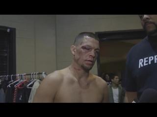 Интервью Нэйта Диаза после победы над Конором Макгрегором на UFC 196
