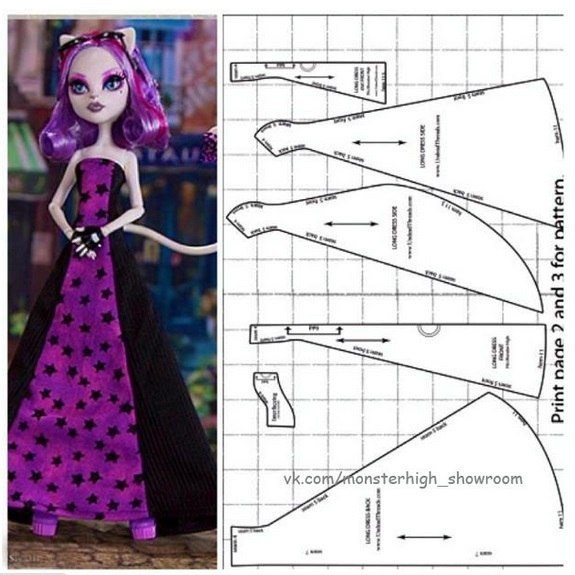 Как сшить платье для куклы монстер хай