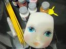 Como pintar rosto de boneca de pano Как рисовать лицо тряпичная кукла в