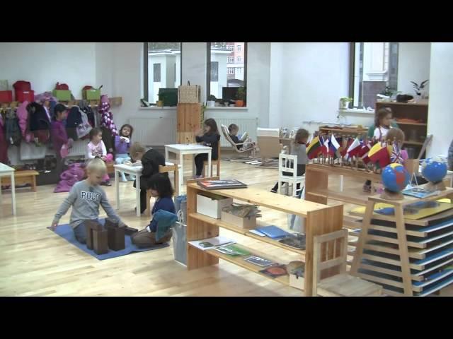 Montessori class at work / Монтессори класс за работой