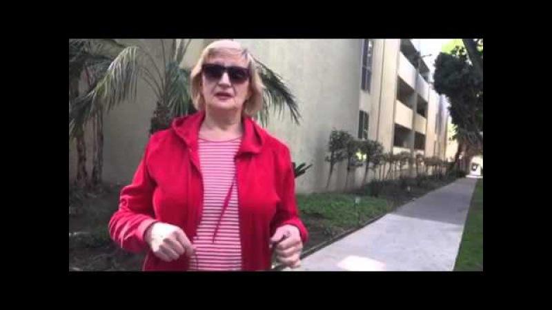 Русские в США, украинцы в США, интервью с эмигранткой в русском районе Лос Анжеле...