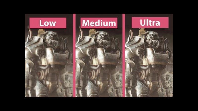 Fallout 4 – PC Low vs. Medium vs. High vs. Ultra Detailed Graphics Comparison