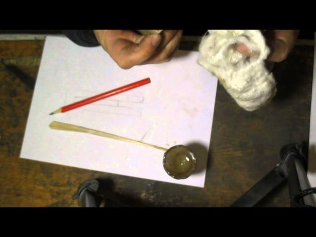 Монтаж рукояти якутского ножа
