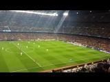 матч Барселона против немецкого Байера.  в живую ))