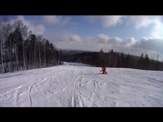 первый опыт мягкого карвинга на сноуборде