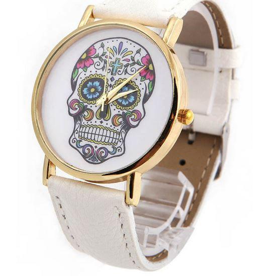 Женские часы с черепами