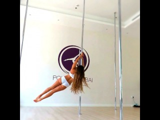 "Michelle Polefitdubai on Instagram: ""Playing around with some #staticpole spins @polefitdubai #Poledance #poledancer #polefit #fitness #fun #dance #love #happy #healthy…"""