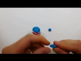 Мастер-класс- Пороро из полимерной глины FIMO kids-Pororo - polymer clay tutorial.