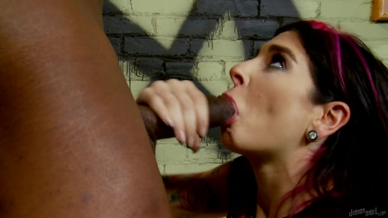 Vulgar Bitch Plays With Black Penis - Joanna