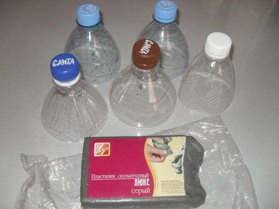 Дымковская игрушка из пластиковых бутылок